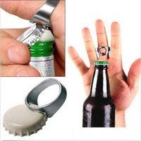 Wholesale RING Beer Bottle Opener Stainless Steel Finger Thumb Keyring Sliver