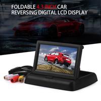 Acheter Lcd moniteur d'affichage vidéo-Moniteurs de voiture de vente chaude 4.3 pouces TFT LCD Affichage de l'écran du moniteur de vue arrière