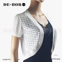 Wholesale Women s New Summer Short Sleeves Cardigan Coat Cotton Knitted Mesh Thin Short Shrug Geometric Crop Top Lady s Casual Top