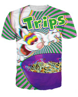Wholesale Trips Aren t For Kids T Shirt Trippy Vibrant Trix Rabbit Character Psychedelic Summer Style Fashion T Shirt Tops For Women