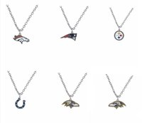 baltimore colts football - 20pcs American Football Steelers Baltimore Colts Logo Enamel Pendant Necklace Fashion Jewelry Fans Gifts AH103941