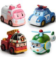 Wholesale Zorn Toys Korea Robocar Poli Poli Amber Roy Helly Spring Team Car Plastic Safe Toy Children Gift