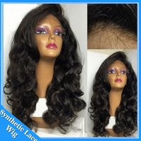 Wholesale Price Cheap Wig Kinky Loose Curly Full Lace Hair Synthetic Wigs For Black Women Body Wave Synthetic Lace Fronrt Wig heat resistant