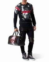 best hedges - Best price high quality Hot sell qp men s skull print hoodies qp Mens hedging sweatshirt coat