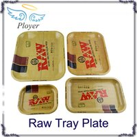 Cheap RAW Tray Medium Size 11*7*1.81inch 160g Putting Rolling Papers Boxes Pipe Tobacco Plates Portable Accessories for Smoking 3 Size to Choose