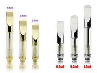 Wholesale 510 Gold Stainless Steel Pyrex Glass Wax Oil CBD Thick Tank mL ml ml BUD Touch Cartridge O Vape Pen Kits VS Amigo Itsuwa Liberty