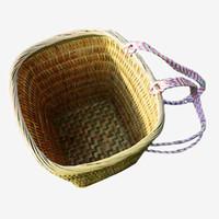 Wholesale Handmade Bamboo pack basket tegumen