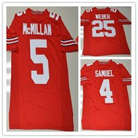 authentic ohio state jerseys - Curtis Samuel Red Ohio State Buckeyes Rugby Football Jerseys Mike Weber Raekwon McMillan Authentic Shirts Mix Order