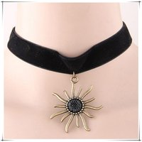 asos shipping - ASOS same paragraph Gothic Punk Grunge stly Sunflower jewel Necklace The Professional Black Velvet Ribbon Chokers