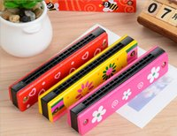 Wholesale 16 hole harmonica to cultivate children s Musical Instruments wooden toys baby gift of music listening