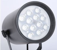 Wholesale Led Track Light Led Ceiling Spot Lamp Light W18W vBlack White Body for Cloth Store Warm Cool White