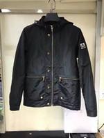 Wholesale M1711 Luxury Mon Brand desige men spring summer autumn jacket men zipper pocket High Quality Plus Size Man casual parka Hooded M XXL