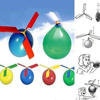 Wholesale Flying Toy Balloon Helicopter DIY Balloon Airplane Toy Children Toy Self Combined Balloon Helicopter Educational Toys For Boys Girls LJJP416