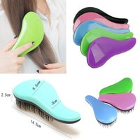 Round Brush Soft Pins PVC Hair Brush Comb Salon Styling Magic Detangling Handle Tangle Hairbrush Tamer
