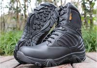 Delta Hombres Militar Botas Tácticas Desierto Combate Al aire libre Ejército de senderismo Viajes Botas zapatos de cuero de otoño Botas de tobillo botas de invierno