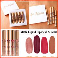 Wholesale DHL Kylie Jenner KOKO Kollection lipstick Set Koko Kylie Cosmetics kollaboration Gold Metal Matte lipstick KHLOE Limited Edition lip gloss