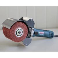 220V 800W máquina eléctrica del dibujo del alambre, Drawbench, máquina pulidora portable para el tratamiento de pulido del espejo del acero inoxidable