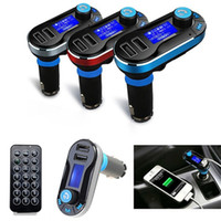 Wholesale Hot Sale Bluetooth V2 FM Transmitter MP3 Player Car Kit Dual USB Charger Hands Free Micro SD TF Card Reader Card USB AUX Input