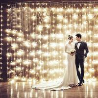 Wholesale x4 m LED Curtain Lights led Lighting Strings Flash Fairy Festival Party light lamp Christmas light holiday light wedding Decor