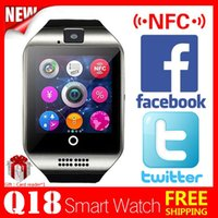 Wholesale 2016 Bluetooth Curved Screen Smart Watch Apro Q18 Support NFC SIM TF GSM Video camera smartwatch For IOS and Android phone