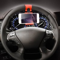 arrival car wheel - New Arrival Universal Steering Wheel Navigation Car Socket Holder For iPhone s Plus s SE Samsung Galaxy S5 S6 S7 Edge Case Mounts