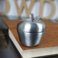 antique earring box - Lovely Apple Shape Mini Ring Box Antique Silver Jewelry Box for Earrings Pendant Necklace Zinc Alloy Gift Case Jewellery Casket