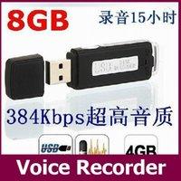 Wholesale USB MEMORY STICK Portable Rechargeable GB HQ Hr Digital Audio Voice Recorder Pen Dictaphone Black