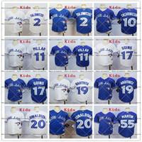 Rugby Boys Short 2017Kids Stitched Toronto Blue Jays 55 Martin 19 Bautista 20 Donaldson 2 Tulowitzki 11 Pillar 55Goins Blue white MLB Youth Baseball Jerseys