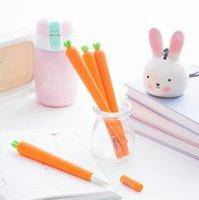 Gel Pens Notes Plastic Hot selling 0.38mm Korean creative Novelty Fresh Carrot Gel Ink Pen Promotional Gift Stationery School & Office Supply Birthday Gift