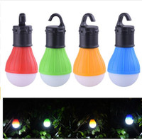 Bulbe led caché Prix-Portable Outdoor Hanging 3LED Camping Lantern, Soft Light LED Camp Lights ampoule pour Camping Tent Fishing 4 Couleurs