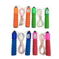accounting products - Fitness Equipment Sponge Adjustable Crystal Skipping Rope Colorful Accounting Jump Cord Small Sports Product Lose Weight one piece