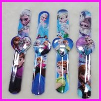 Wholesale Frozen slap watch Digital Watch Kids Fashion Quartz Cartoon Jelly Candy Led with Box Cute Lovely Girl Woman