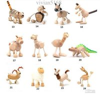 Wholesale Maple Wood Handmade Moveable Animals Toy Farm Animal Wooden Zoo Baby Educational Toys