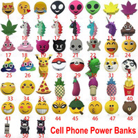 Wholesale Emoji Power Mobile Cell Phone Power Banks mah Funny Cute Unicorn Cartoon Power Bank For Mobile Phone DHL WX B04