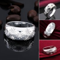 beautiful china patterns - Snowflake Pattern Ring European and American Fashion Zircon Jewelry Creative Snow Inlaid Stones Rings Beautiful Silver Plated Jewelry