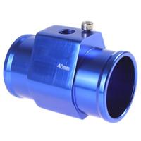 aluminium pipe clamp - Blue Water Temperature Temp Sensor Gauge Adapter mm Aluminium Joint Pipe with Clamps Cooling System CEC_519