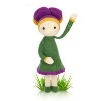 Unisex amigurumi dolls - Crochet amigurumi doll quot Violet Vicky quot