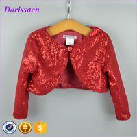 baby bolero cardigan - Red Sequin Baby Wear Clothes Children s Outwear Long Sleeve Glitter Jacket Cardigan For Girls Bolero Child