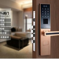 Wholesale Top Intelligent fingerprint door lock biometric with good quality Card key password finger scan open with remote control