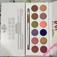 Wholesale High Quality Kylie Jenner colors Eyeshadow palette with pen Royal Peach Palette Kyshadow cosmetic In Stock