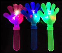 applause toys - light up toys Applause props LED light clap hands palms shoot kids toy party favors rattle plastic Halloween decor