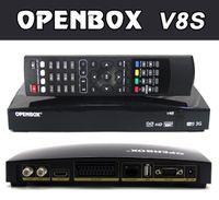 Wholesale 10Pcs Openbox V8S HD PVR Satellite Receiver Support WEB TV Slot USB Wifi G Youtube CCCAMD