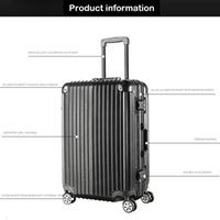 Wholesale High grade durable aluminum inch pull rod luggage
