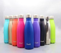 Wholesale High quality colors NEW Swell Men s Large Stainless Steel Bottle Vacuum Flask Cup S well Sports bicycle water Bottles ml