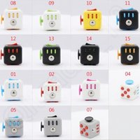 Wholesale 15 Colors In Stock Fidget Cube The World s First American Decompression Anxiety Toys With Lanyard And Retail Box CCA5475