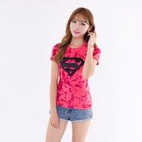 Wholesale HERO series female models Superman tights US captain printing Yoga running fitness quick drying T shirt