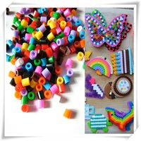 Wholesale per set mm hama perler beads kids children DIY handmaking fuse bead Intelligence Educational Toys DIYFASHION
