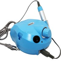 blue drilling machine - Blue color professional pedicure drill rpm machine nail machine for acrylic electric nail drill machine with nail bits