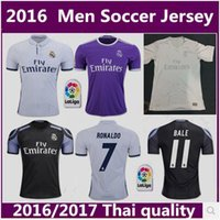Wholesale Thai quality Real Madrid home Away RD jerseys RONALDO BENZEMA JAMES BALE MEN shirt