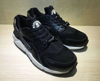air puppet - 1 quality Air Huarache suede Mastermind Japan black white WITH BOX